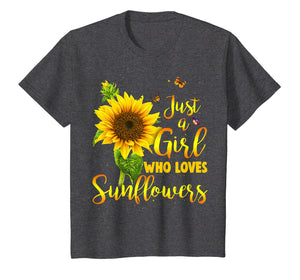Just A Girl Who Loves Sunflower Shirt