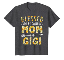Load image into Gallery viewer, Blessed to Be Called Mom and Gigi Sunflower Tee Shirt