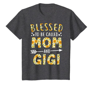 Blessed to Be Called Mom and Gigi Sunflower Tee Shirt