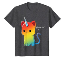 Load image into Gallery viewer, I Hate You Rainbow Cat T-Shirt