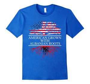 Albanian Roots, American Grown, Flag of Albania Shirt