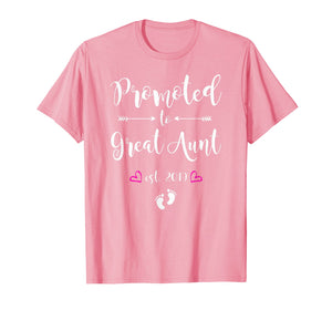 Promoted to Great Aunt Est 2019 New Great Auntie To Be Shirt