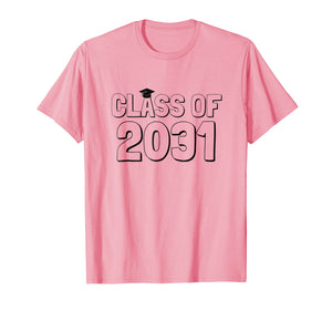 Class of 2031 Grow With Me Shirt -- Hand prints go on back!