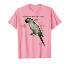 Load image into Gallery viewer, Anatomy of a Green Cheek Conure - Funny Parrot Shirt