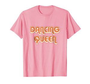 DANCING QUEEN Vintage Large Print w/Shadow 1970's T-Shirt