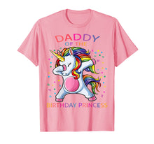 Load image into Gallery viewer, Daddy of the Birthday Princess Unicorn Girl Matching T Shirt