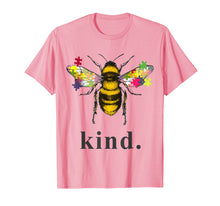 Load image into Gallery viewer, Autism Awareness Bee Kind Puzzle Pieces T Shirt