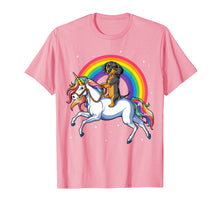 Load image into Gallery viewer, Dachshund Unicorn T shirt Girls Space Galaxy Rainbow Dog Tee