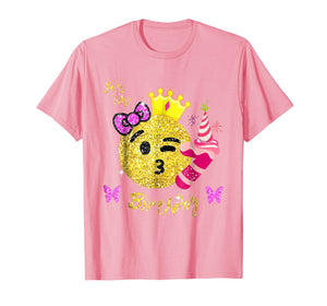 Emoji Shirt For Birthday Girls- OMG It's My 7th Birthday tee