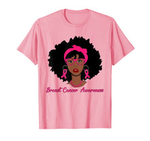 Load image into Gallery viewer, Breast Cancer Black Girl T-Shirt