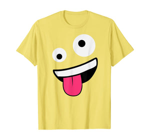 WIld Silly Crazy Eyes Zany Face Emojis Halloween Costume T-Shirt