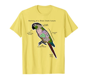 Anatomy of a Green Cheek Conure - Funny Parrot Shirt