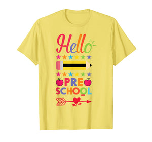 Hello Preschool First Day Of Pre-K Back To School 2017 Shirt