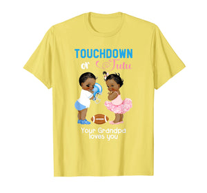 Mens Ethnic Touchdown or Tutu Your Grandpa Loves You T-Shirt