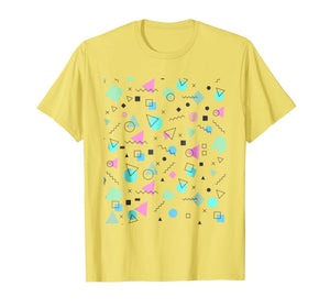 Retro Vintage Memphis Pattern T-Shirt 80s and 90s Tee