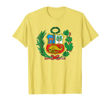 Load image into Gallery viewer, Peru Shirt Peruvian Escudo Coat of Arms Men Women SOCCER