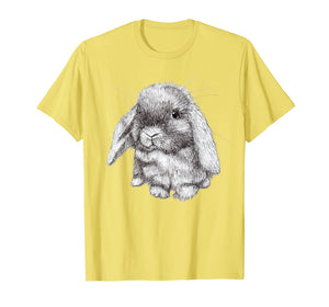 Lop Eared Bunny Rabbit Sketch T-Shirt Mens Womens Childrens