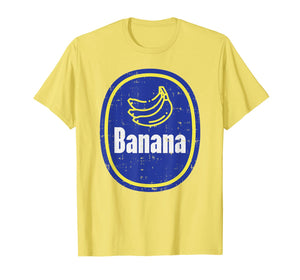 Banana Sticker Funny Fruit Lazy DIY Easy Halloween Costume T-Shirt