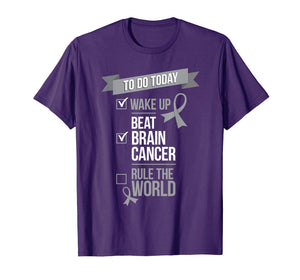Beat Brain Cancer Rule the World Cancer Fighter Shirt