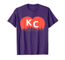 Load image into Gallery viewer, KC Heart Vintage Kansas City Cityscape Shirt