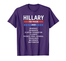 Load image into Gallery viewer, Hillary Clinton for Prison 2020 Jail T-Shirt