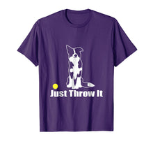 Load image into Gallery viewer, JUST THROW IT | NickerStickers Border Collie T-Shirt