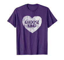 Load image into Gallery viewer, Anti Bullying Choose Kind Shirt Teacher T-Shirt Heart Helmet