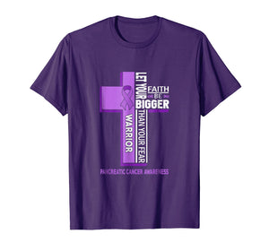 Pancreatic Cancer Awareness Cross Warrior Shirt