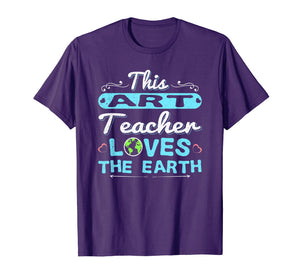 Earth Day Teacher Shirt Art Gift Tee