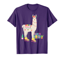 Load image into Gallery viewer, Retro llama Roller Skate Derby 70s 80s T Shirt Gift girl