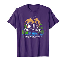 Load image into Gallery viewer, Think Outside No Box Required Camping T-Shirt Camp Gift