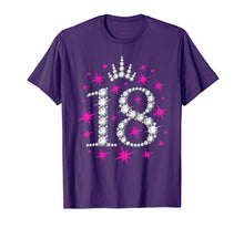 Load image into Gallery viewer, 18th Birthday T-shirt. Eighteen Birthday tshirt for girls.