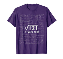 Load image into Gallery viewer, Square Root Of 121 T-shirt 11th Birthday 11 Years Old Gift T