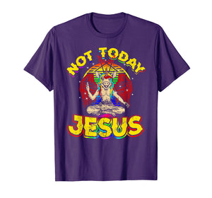 Baphomet Sigil Not Today Jesus Satanic Unicorn T Shirt