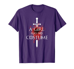 A Girl Has No Costume Halloween Shirt Needle Blood Graphics
