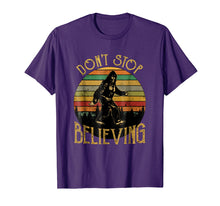Load image into Gallery viewer, Don't Stop Believing Bigfoot T Shirt Gift for Women Men