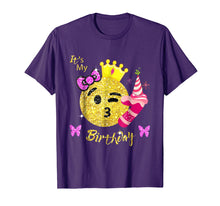 Load image into Gallery viewer, Emoji Shirt For Birthday Girls- OMG It's My 7th Birthday tee