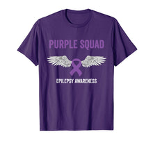 Load image into Gallery viewer, Epilepsy awareness purple ribbon - epilepsy awareness month T-Shirt