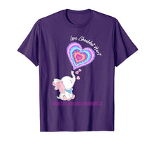 Load image into Gallery viewer, Domestic Violence Awareness Gifts Love Shouldn't Hurt Ribbon T-Shirt