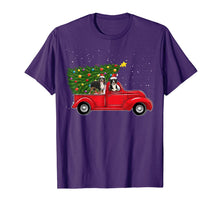 Load image into Gallery viewer, Bernese Mountain Dog Christmas On Red Car Truck Xmas Tree T-Shirt