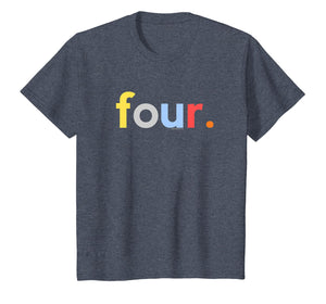 Kids 4th Birthday Shirt for Boys 4 Four | Age 4 Gift Ideas