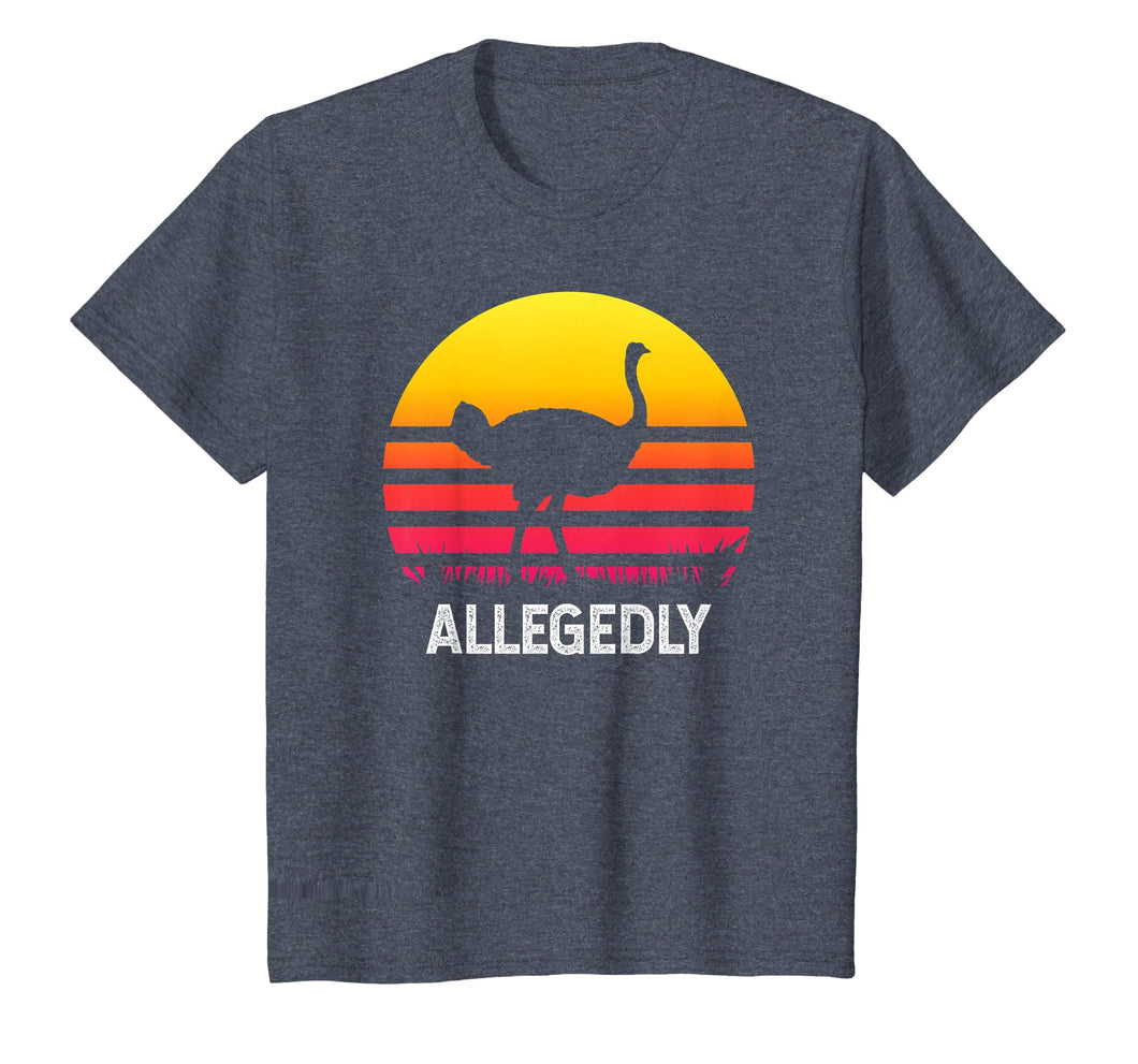 Vintage Allegedly Ostrich Tshirt- Funny Allegedly Ostrich