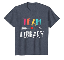 Load image into Gallery viewer, Library Teacher Team Library T-Shirt 1St Day Of School