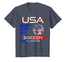 Load image into Gallery viewer, Soccer 2019 USA Womens Tshirt | France tournament shirt