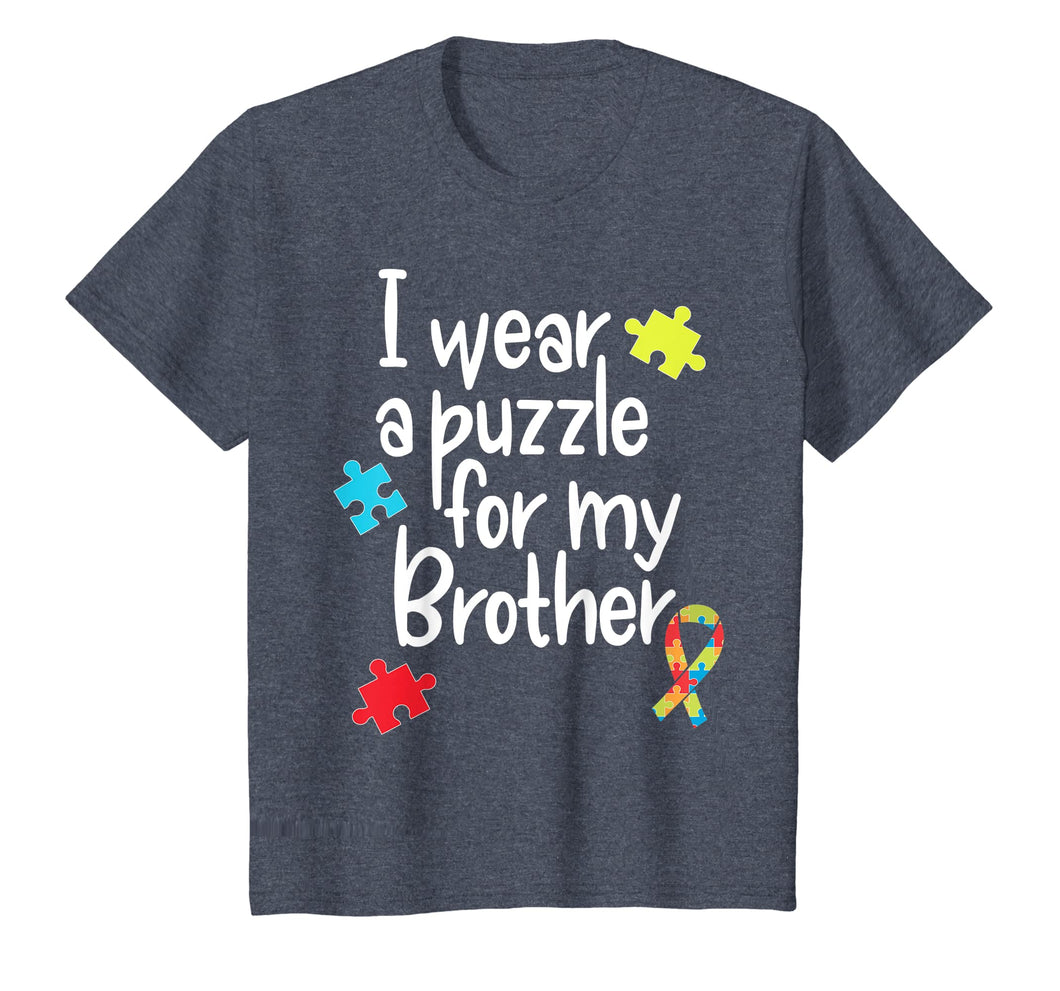 Brother Autism Shirt I Wear Puzzle for My Brother gift