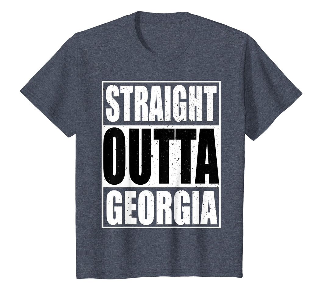Cool Straight Outta Georgia Novelty T-shirt