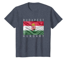 Load image into Gallery viewer, Budapest T-Shirt Flag of Hungary with Coat of Arms Souvenir