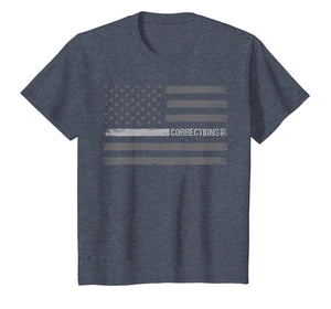 Correctional officer t-shirt USA American flag gift vintage