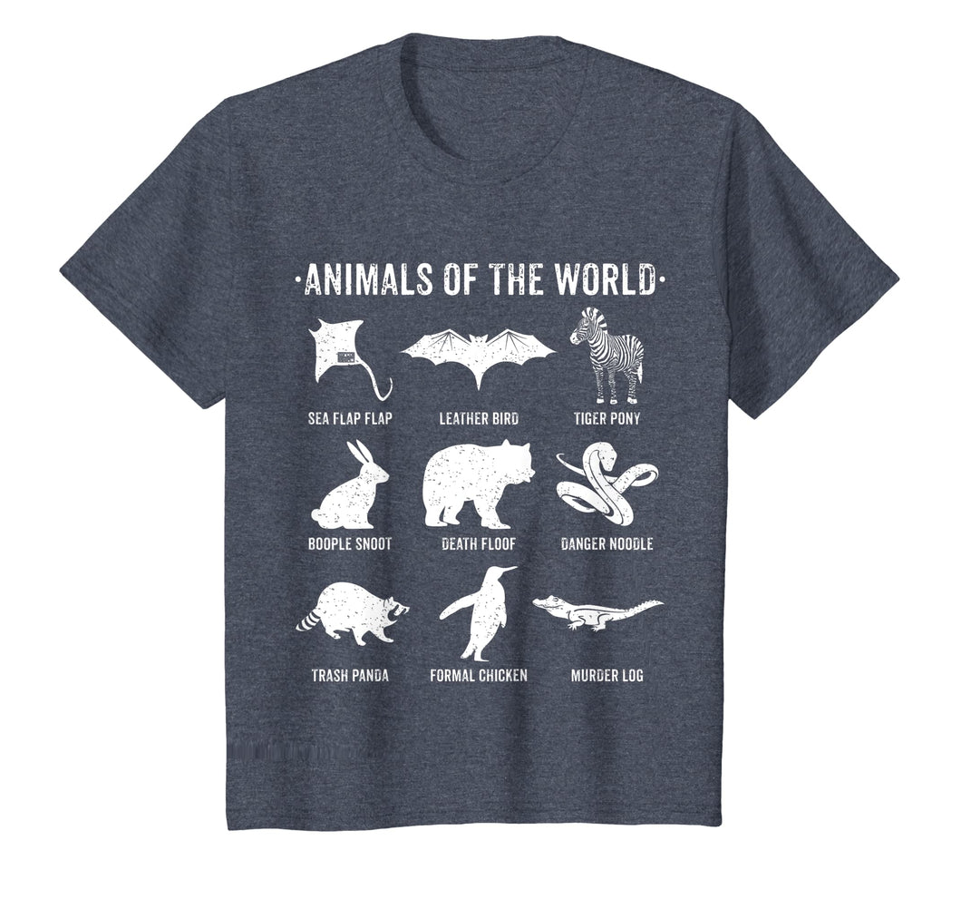 SIMPLE VINTAGE HUMOR FUNNY RARE ANIMALS OF THE WORLD T-SHIRT