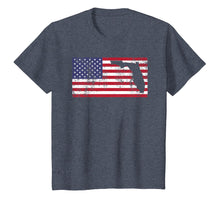 Load image into Gallery viewer, American Flag FLORIDA USA Patriotic T-Shirt Vintage Retro